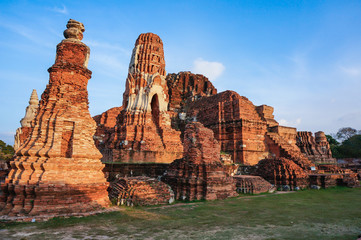 ancient pagoda in Ayutthaya, Thailand
