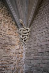 Decorazione in pietra a forma di serpente