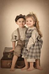 Mädchen und Junge