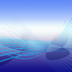 Blue Gradients Background Blue Lines and Wings Shadow