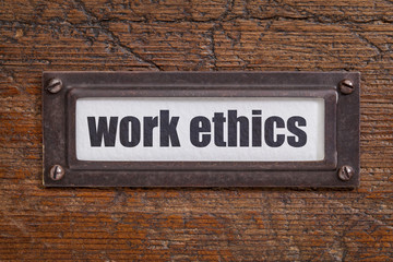 work ethics file  label