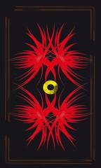 Tarot cards - back design, Fire flames