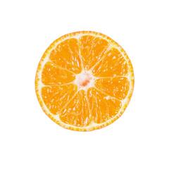 Slice of ripe tangerine isolated on white