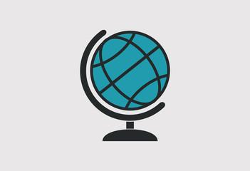 Globe icon logo vector