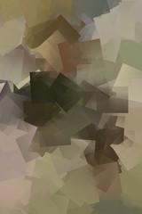 Kubistisches Mosaik in den Farben braun und beige
