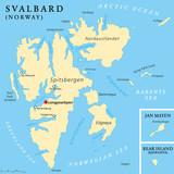 Svalbard Political Map