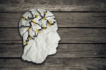Brain disease therapy and mental health treatment concept
