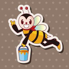 bee cartoon theme elements