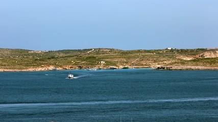 The world famous Blue Lagoon in Comino island.Malta