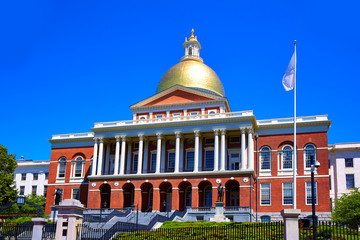 Boston Massachusetts State House golden dome