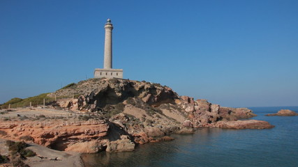 Lighthouse in Mediterranean sea, southern Spain