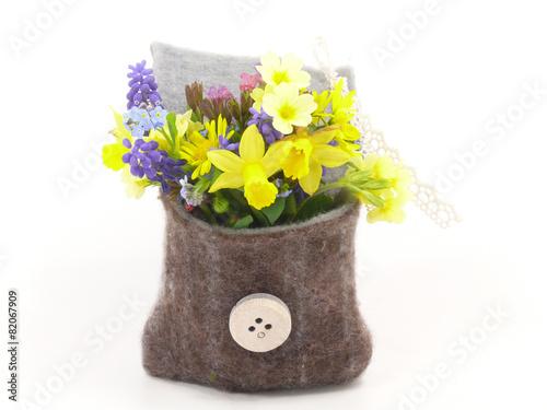 Fotobehang Narcis Blumensträußchen