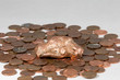 Copper Nugget on a Bed of Pennies - 82068188