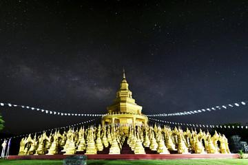 The Milky Way, In the temple Saraburi, Thailand.