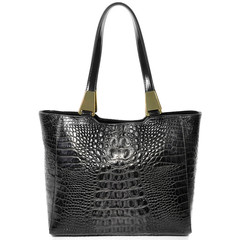 Reptile Embossed Leather Bag.