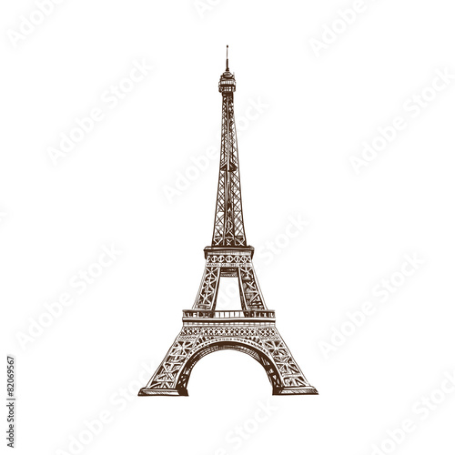 Zdjęcia na płótnie, fototapety, obrazy : Eiffel Tower, Paris. France. Vector illustration