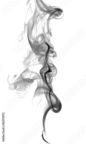 Deurstickers Rook Abstract dark smoke
