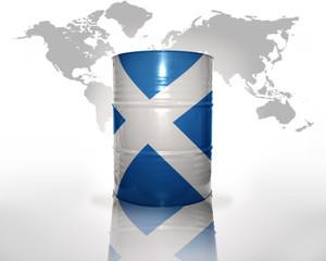 barrel with scottish flag