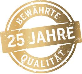 Siegel 25 Jahre Bewährte Qualität