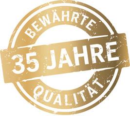Siegel 35 Jahre Bewährte Qualität