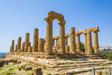 Ancient Greek Temple of Juno God, Agrigento, Sicily, Italy