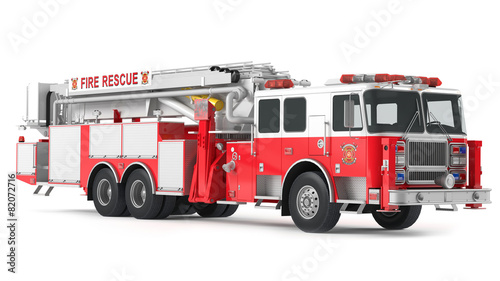 fire truck isolated - 82072716