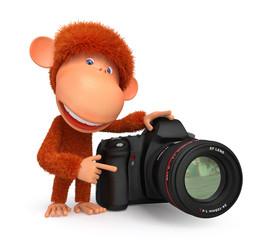 3d monkey photographer
