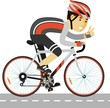 Young racing cyclist man with bike in flat style - 82074769