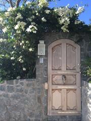 Porta in legno ingresso casa entrata Saint Barthélemy