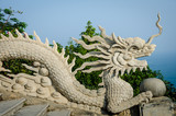 Sculpture of stone dragon at Linh Ung Pagoda in Da Nang, Vietnam - 82076394