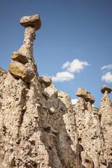 stone mushrooms, mountain landscape