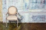 Luxury chair near  wall