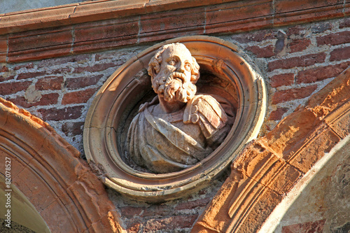 busto maschile; antico ospedale Ca' Granda, Milano - 82078527