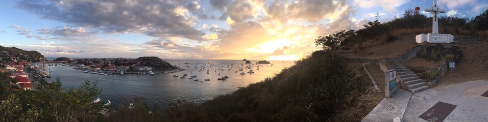 Saint-Barthélemy, St Barth, Gustavia, panoramica, caraibi porto
