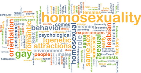 Homosexuality wordcloud concept illustration