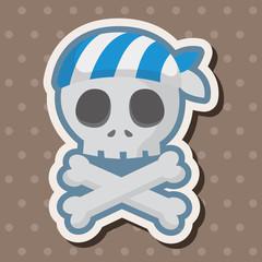 pirate skull theme elements