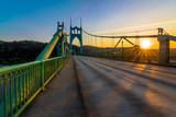 St. John's Bridge in Portland Oregon, USA - 82083779