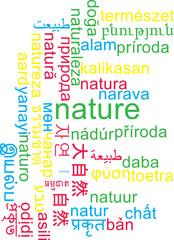 Nature multilanguage wordcloud background concept