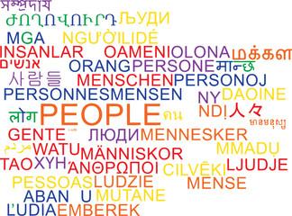 People multilanguage wordcloud background concept