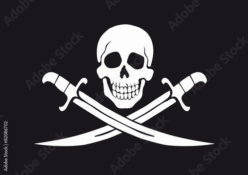 Plakat Jolly Roger Black