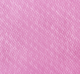 Pink paper napkin, texture background.