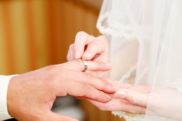 指輪の交換