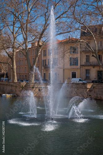 Leinwanddruck Bild Jardin de la fontaine, Nîmes.