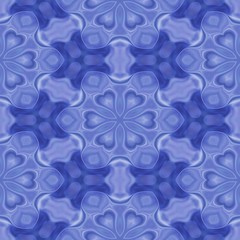 Seamless kaleidoscope texture or pattern in blue 3