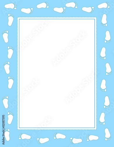 baby footprint frame blue buy photos ap images detailview