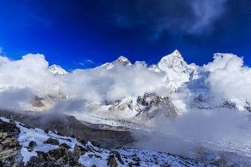 Mountain scenery in Himalaya, Nepal