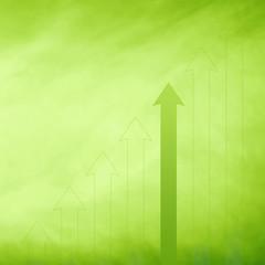 Conceptual simple eco green arrows