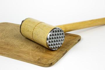 Meat hammer wooden