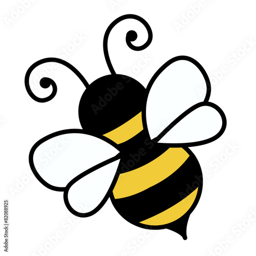 Zdjęcia na płótnie, fototapety, obrazy : Bee isolated on white