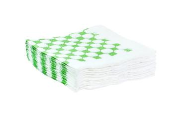 Stack of napkins isolated on white background